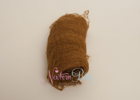 Plain Colour Lacey Wrap/Stuffer - RUST
